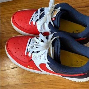 Like New red, white, and blue Air Force 1's